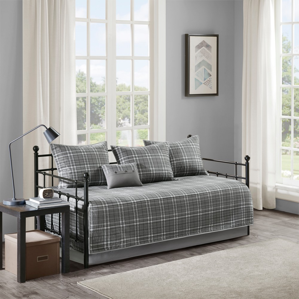 6pc Chet Daryl Daybed Set Gray