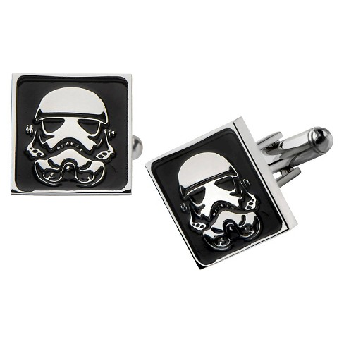 Men's Star Wars Stormtrooper Stainless Steel Square Cufflinks - image 1 of 1