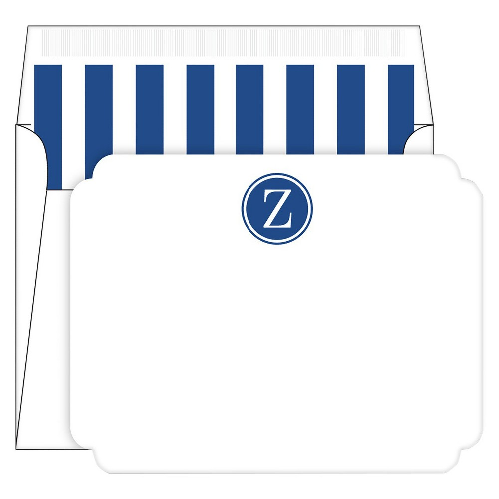 Die-Cut Social Set Preppy Stripe Monogram - Z