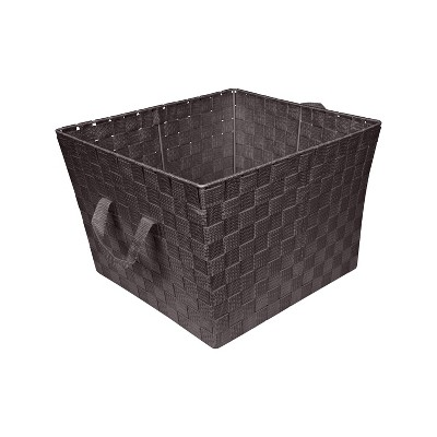 Simplify Large Woven Storage Bin Brown