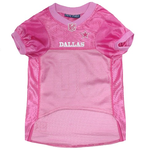 online store ff98a 0a694 NFL Dallas Cowboys Pets First Pink Pet Football Jersey - Pink S