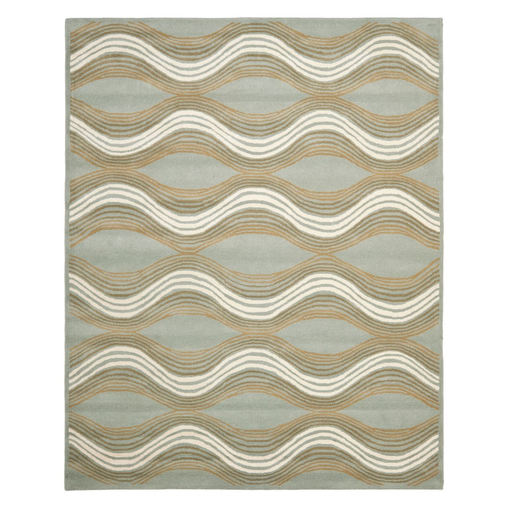 10'X14' Wave Tufted Area Rug Blue - Safavieh