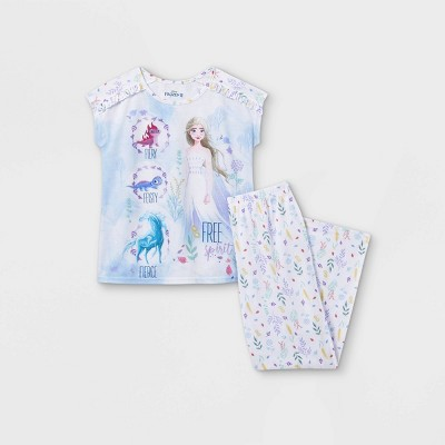 Girls' Frozen 2pc Pajama Set - Blue/White