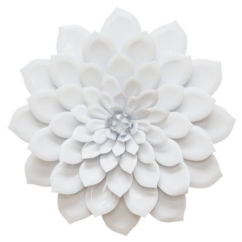 19 88 X 19 88 Layered Flower Wall Decor White Stratton Home Dcor Target