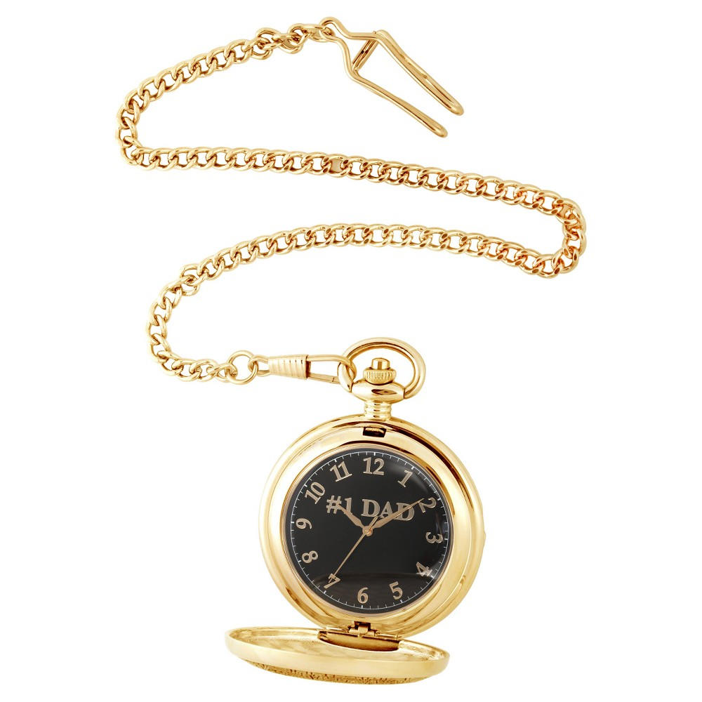 Image of Men's eWatchfactory Family DAD Pocket Watch - Gold, Size: Small