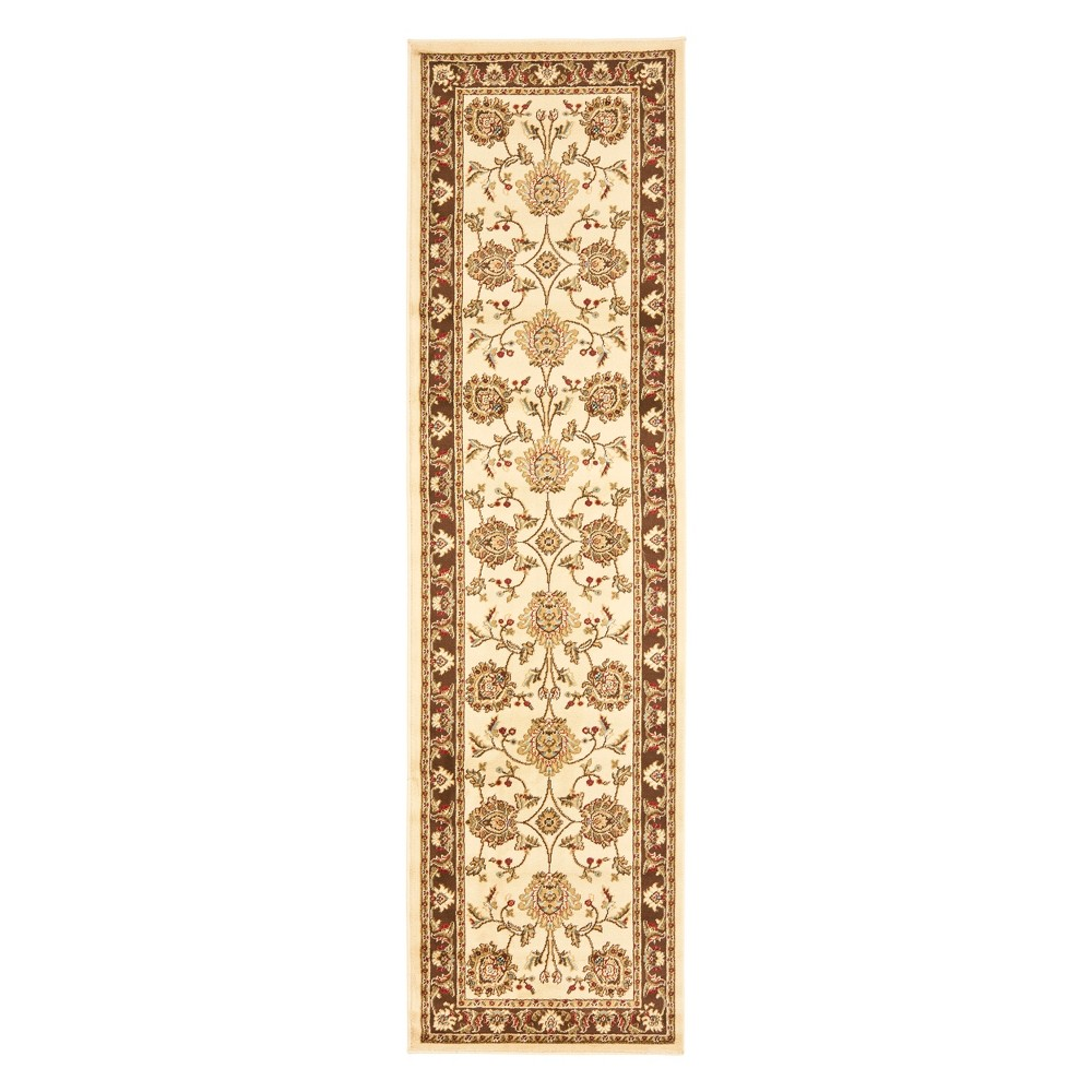 23X16 Floral Loomed Runner Ivory/Brown - Safavieh Discounts
