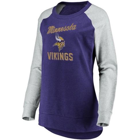 online retailer f6d4c ee673 NFL Minnesota Vikings Women's Brushed Tunic/ Gray Crew Neck Fleece  Sweatshirt