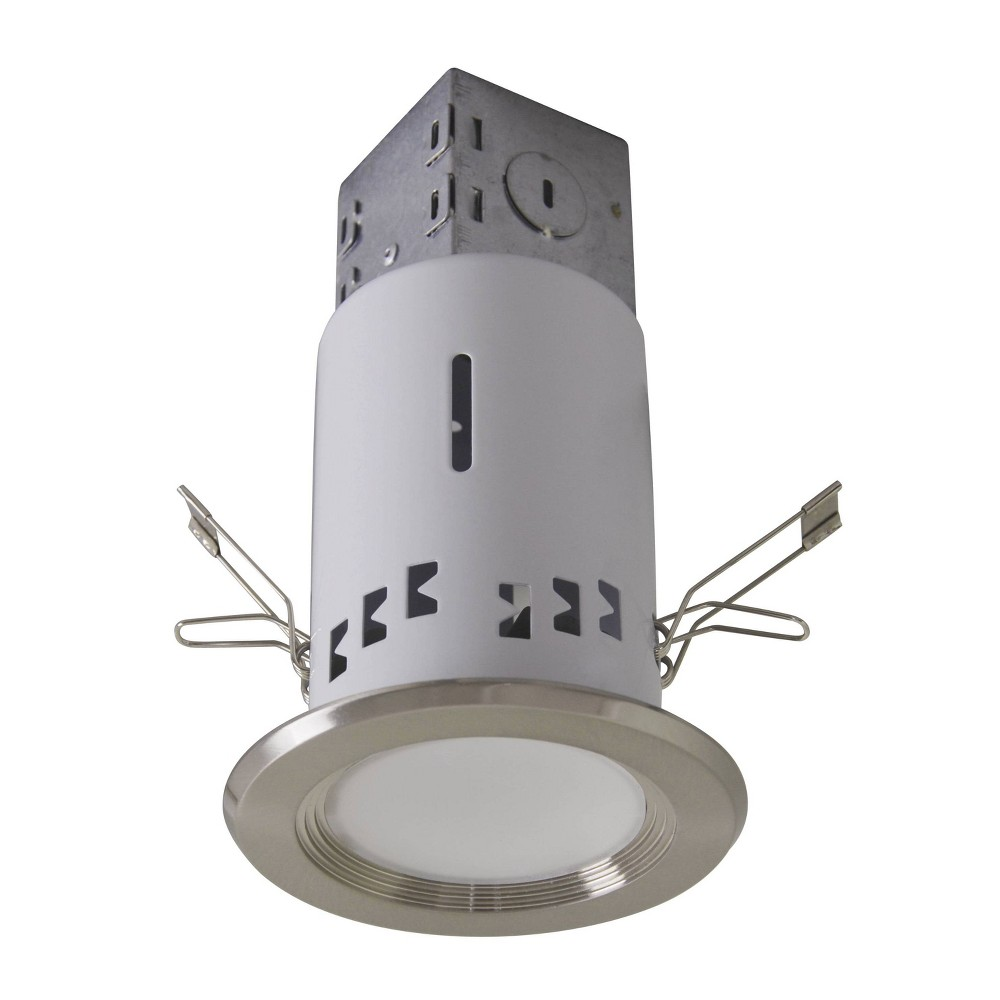 7 09 34 X 4 34 X 3 34 Recessed Ceiling Light Brushed Nickel Includes Light Bulb Cresswell Lighting