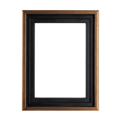 """Creative Mark Illusions Floater Frame for 3/4"""" Depth Stretched Canvas Paintings & Artwork - [Black with Antique Gold]"""