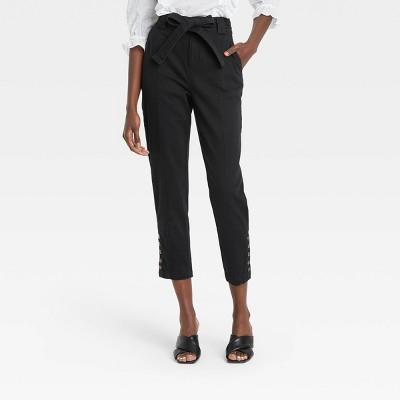 Women's Button Hem Ankle Length Pants - Who What Wear™