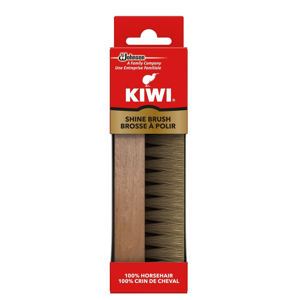 Image of KIWI Horsehair Shine Brush 1ct, Adult Unisex, White