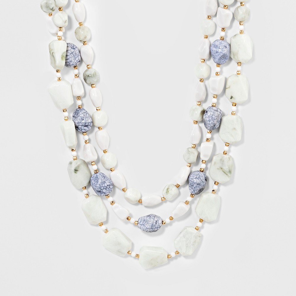 Sugarfix by BaubleBar Beaded Statement Necklace - White, Girl's