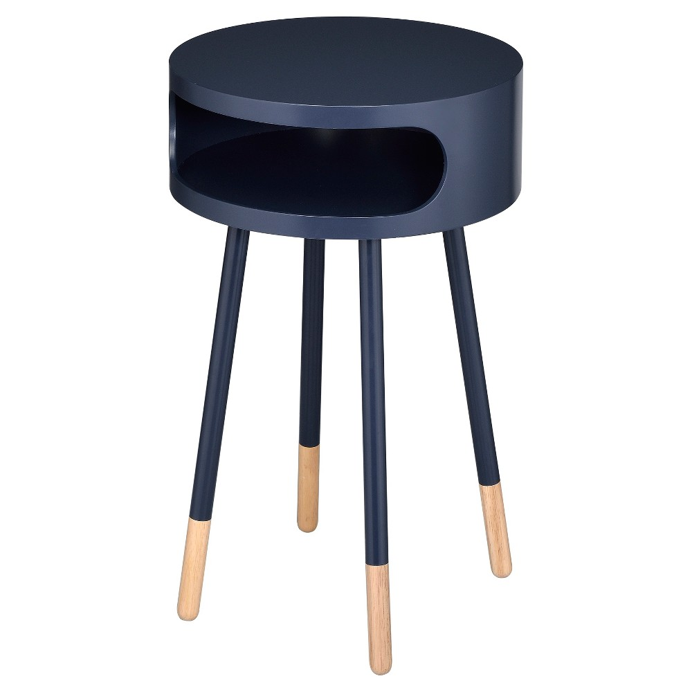 End Table Black Natural Acme Furniture