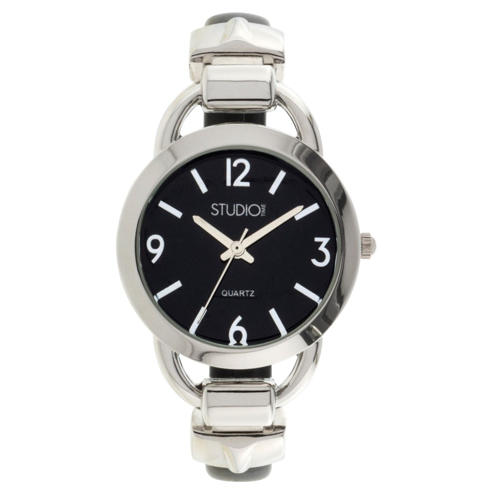 Women's Studio Time Bangle Watch - Light Silver Enjoy you new fashion forward bangle watch. These chic, versatile and aaesthically pleasing watches will add something new to your look! Color: Light Silver. Gender: Female. Age Group: Adult.