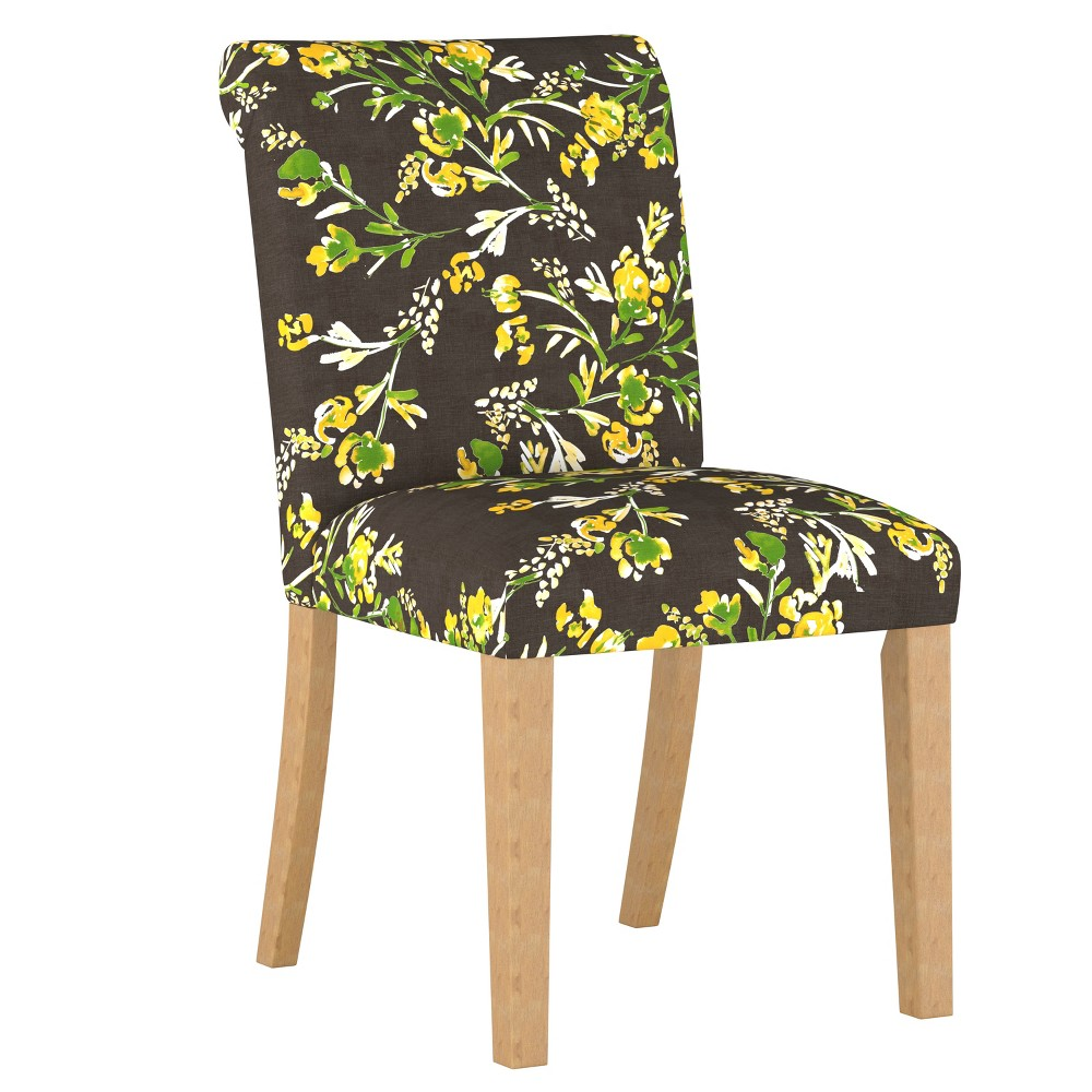 Simone Rolled Back Dining Chair Brown Floral - Cloth & Co.