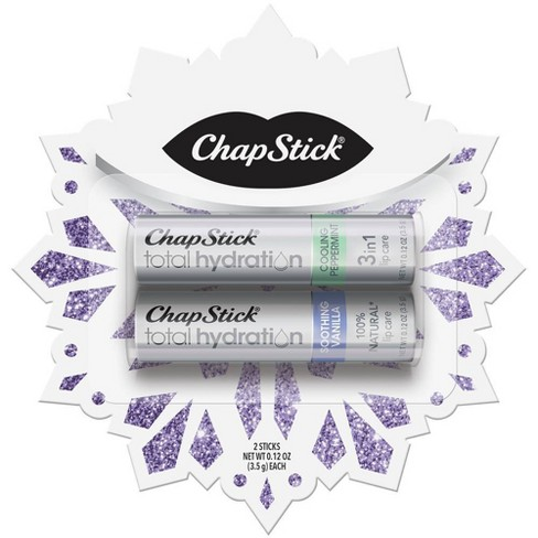 Chapstick Total Hydration Lip Balm - Snowflake Vanilla & Peppermint - 2ct - image 1 of 3