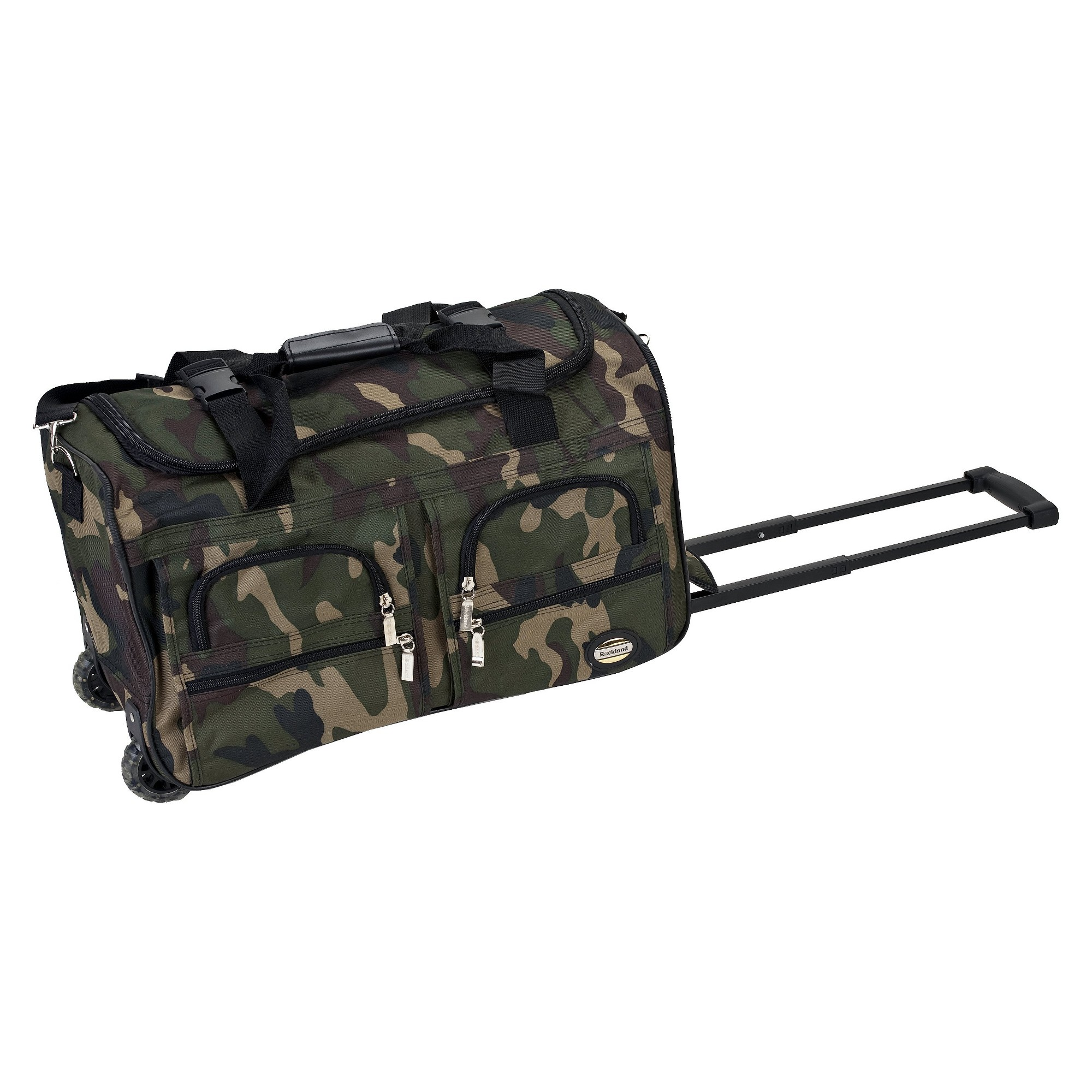 'Rockland 22'' Rolling Duffel Bag - Camo, Size: Large, Green Drab'