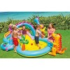 "Intex 11' x 7.5' x 44"" Dinoland Play Center Kiddie Swimming Pool w/ air pump - image 4 of 4"