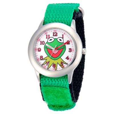 Boys' Disney Kermit Stainless Steel Watch - Green