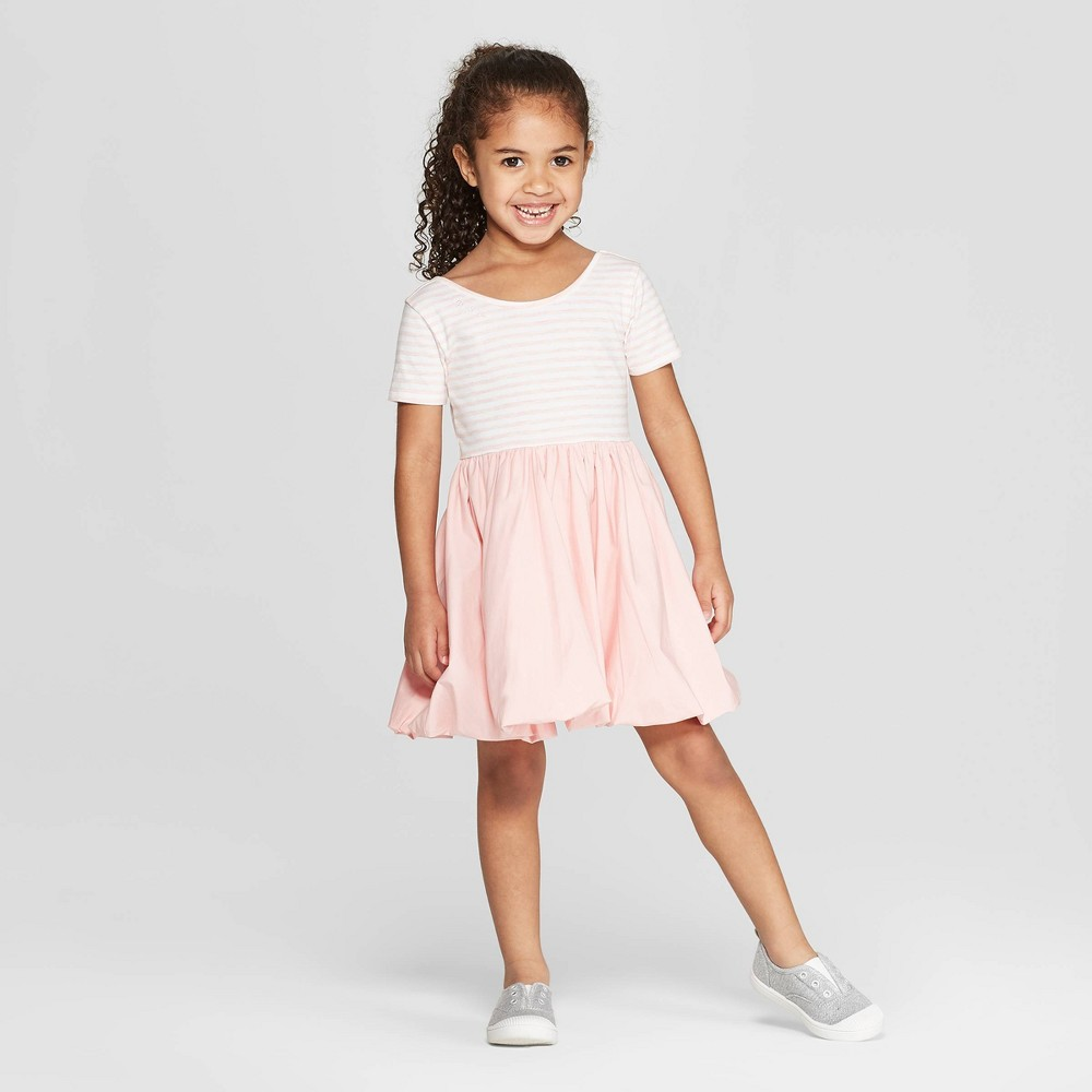 Mila & Emma Toddler Girls' Ballerina T-Shirt Dress - Pink/White 12M