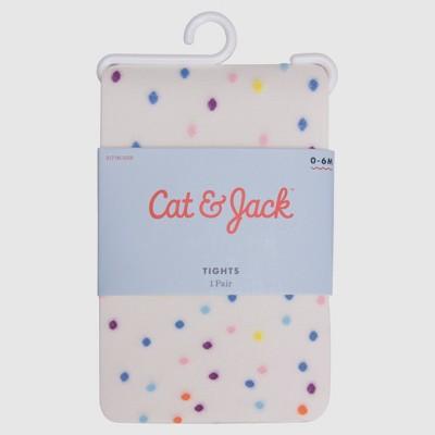 Baby Girls' Fleck Tights - Cat & Jack™ White 6-12M