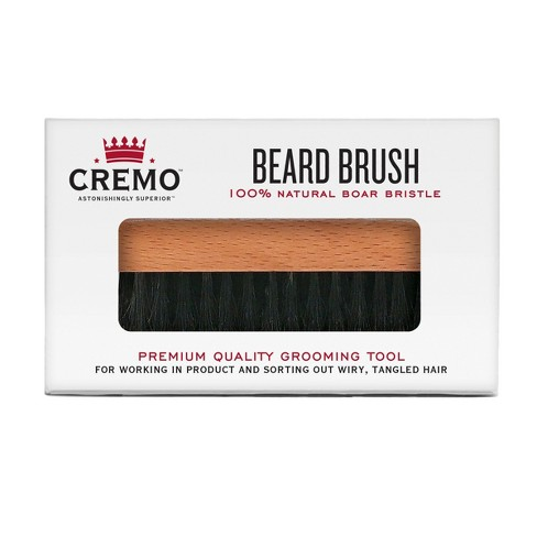 Cremo Premium Boar Bristle Beard Brush With Wood Handle Shaping Styling 1ct