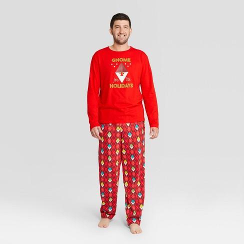 5ef0ab12d4 Men s Gnome For The Holiday Pajama Set - Wondershop™ Red 2XL   Target