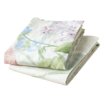 Lakeside Farm Fresh Flowers Bedding Sheet Set with Pillowcases - 4 Pieces