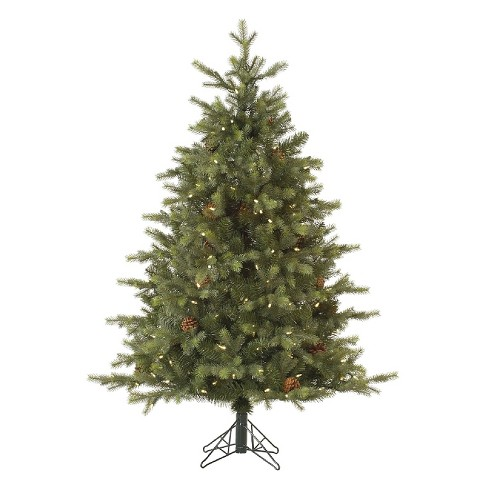 9ft pre lit led artificial christmas tree full mountain fir clear lights - 9ft Pre Lit Christmas Tree