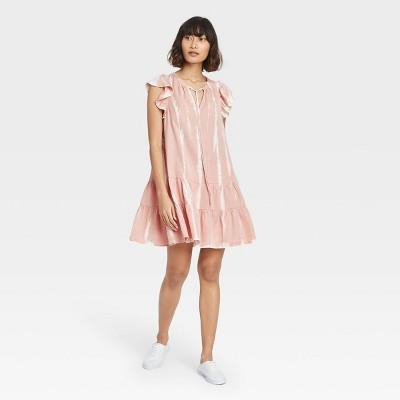 Women's Flutter Short Sleeve Ruffle Dress - Knox Rose™