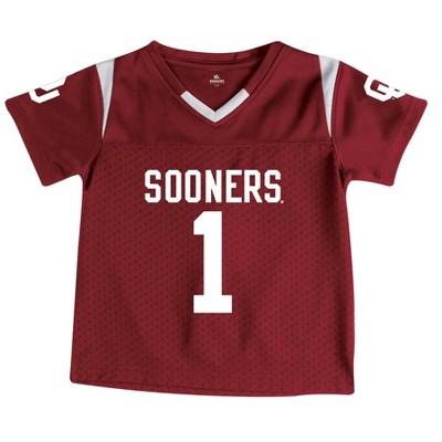 NCAA Oklahoma Sooners Toddler Boys' Short Sleeve Crimson Jersey