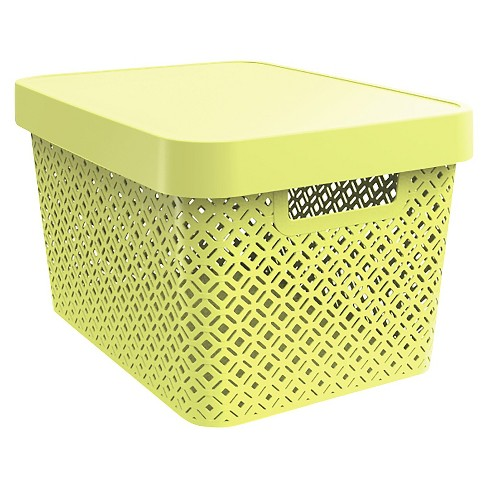Cube Storage Large Bin - Yellow - Room Essentials™ - image 1 of 1