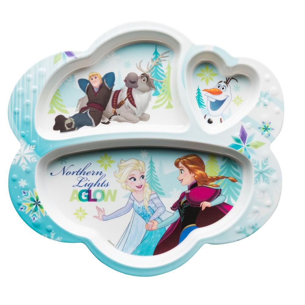 Image of Frozen Melamine Divided Plate 9.3 - Zak Designs, Multi-Colored