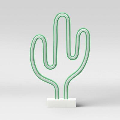 Cactus Neon LED Edge Lit Novelty Table Lamp - Room Essentials™
