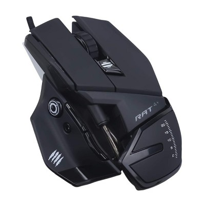 Mad Catz The Authentic R.A.T. 4+ Optical Gaming Mouse, Black ( MR03MCAMBL00 )