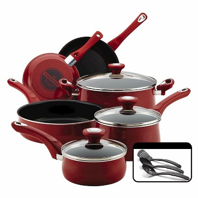 Farberware 12Pc Cookware Set - Red