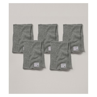 Burt's Bees Baby Organic Cotton 5pk Burp Cloth Set - Heather Gray