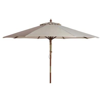 Cannes 9' Wooden Outdoor Umbrella - Safavieh