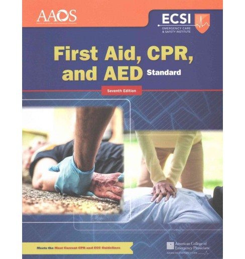 First Aid, CPR, and AED (Paperback) - image 1 of 1