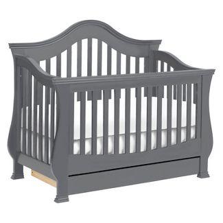 Million Dollar Baby Classic Ashbury 4-in-1 Convertible Crib with Toddler Rail - Manor Gray