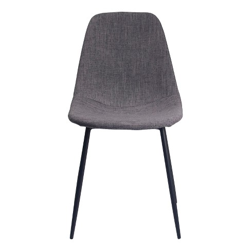 Maxine Modern Upholstered Fabric Dining Chair (Set of 2) - Gray - Aeon - image 1 of 2
