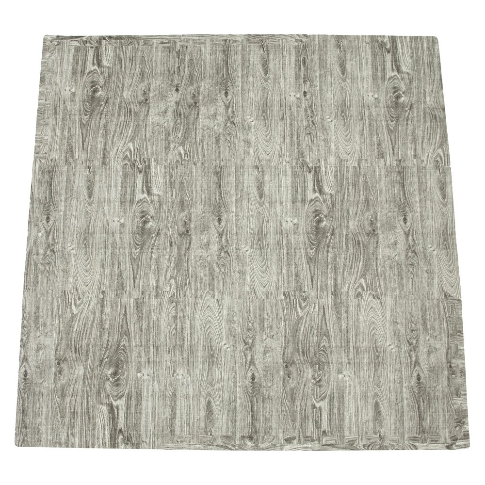 Image of Tadpoles 9-Piece Set Playmat - Wood Grain