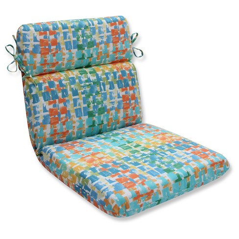 Pillow Perfect Quibble Sunsplash Outdoor One Piece Seat And Back Cushion - Blue - image 1 of 1