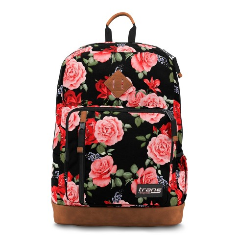 """Trans by JanSport 18"""" Dakoda Daypack - Rosy Roses - image 1 of 4"""
