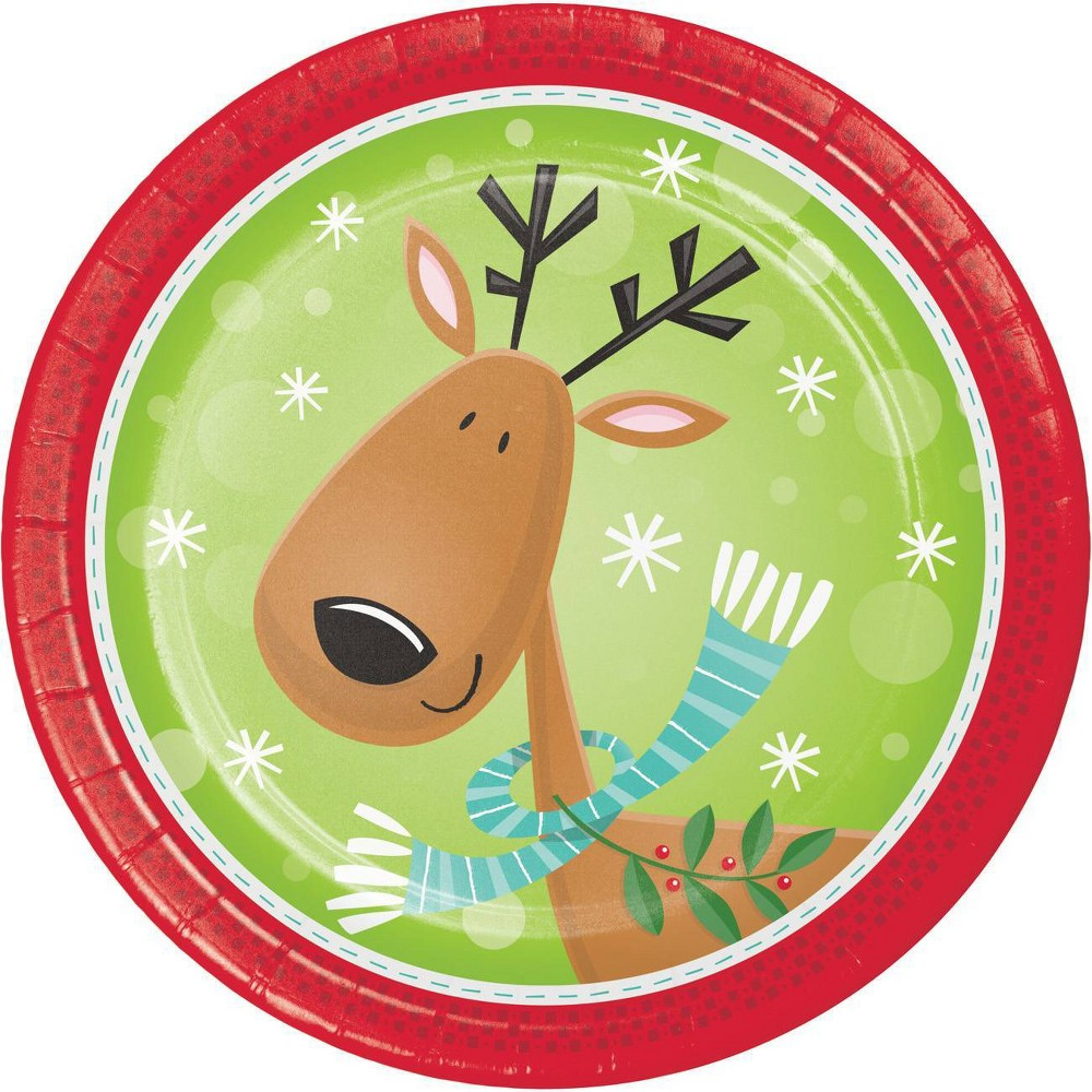 Image of 24ct Characters of Christmas Dessert Plates