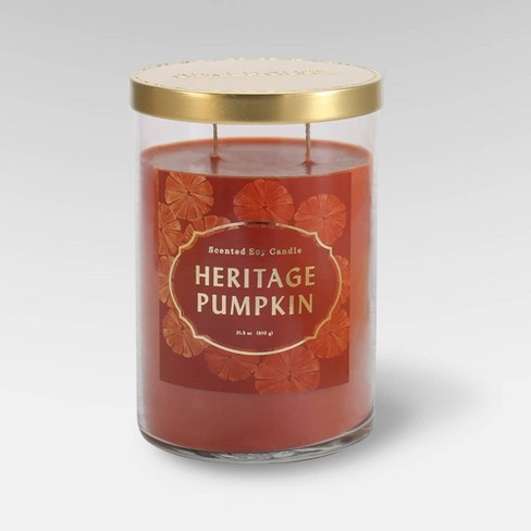 21.5oz Lidded Glass Jar 2-Wick Candle Heritage Pumpkin - Opalhouse™ - image 1 of 1