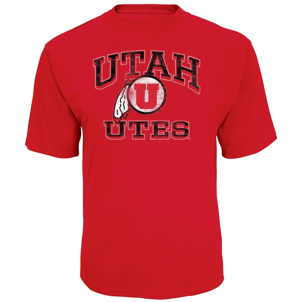 NCAA Men's Short Sleeve TC T-Shirt Utah Utes - L, Multicolored
