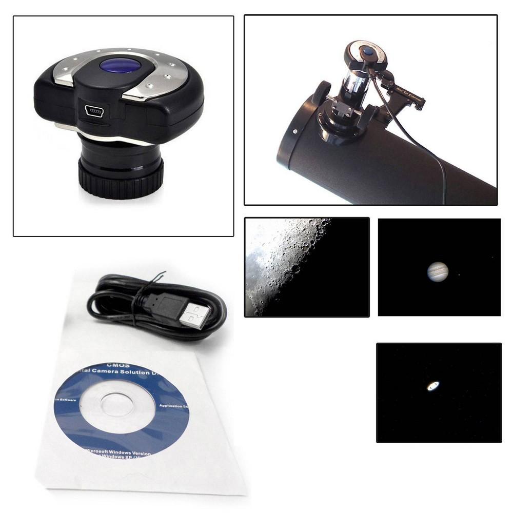 "Image of ""Cassini 1.3 MP 1.25"""" Digital Telescope Eyepiece/USB Camera - Black"""