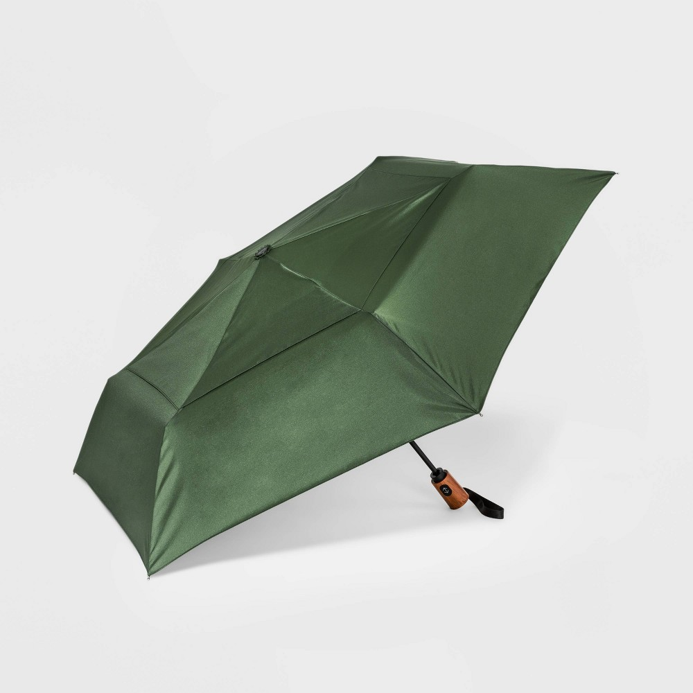 Image of Cirra by ShedRain Air Vent Auto Open Auto Close Compact Umbrella - Green Olive, Adult Unisex