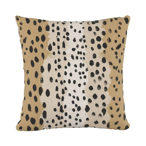 Linen Leopard Square Throw Pillow - Cloth & Co. - image 1 of 4